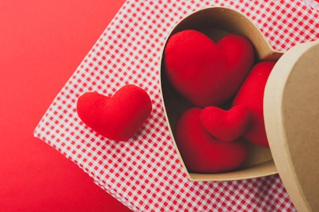 Box avec des coeurs
