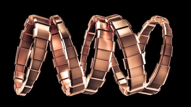 Bracelet à la mode, décoré d'une pierre précieuse, verre rendu 3d illustration