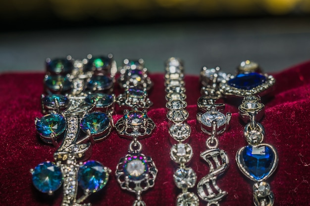 Bracelets en argent avec zircone