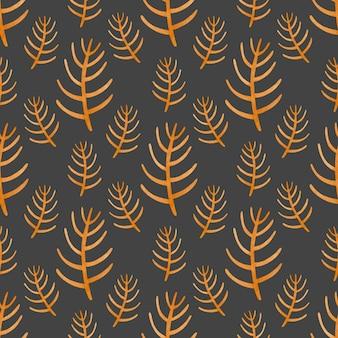 Branche orange transparente motif aquarelle dans le style scandinave
