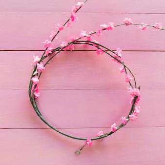 Branches avec des fleurs en forme de cercle