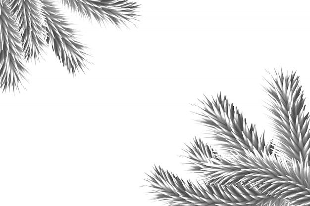 Branches de sapin générées numériquement