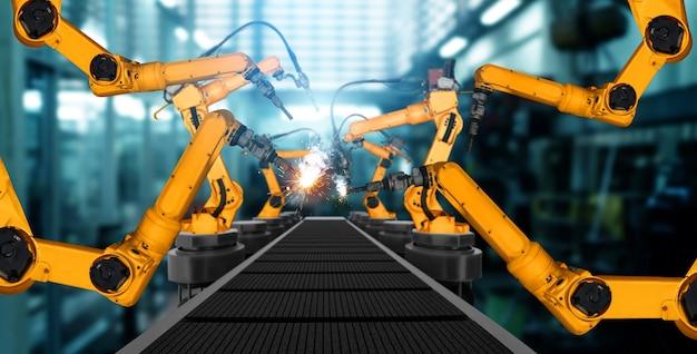 Bras de robot industriel mécanisé pour l'assemblage dans la ligne de production en usine