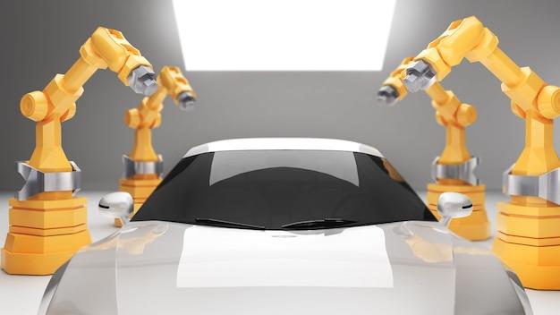 Bras robotiques dans l'industrie de fabrication de véhicules électriquestechnologie de fabrication de véhicules électriques
