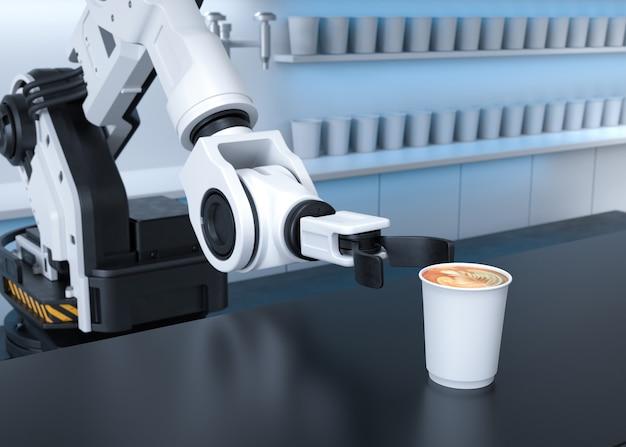 Bras robotisé servant du café