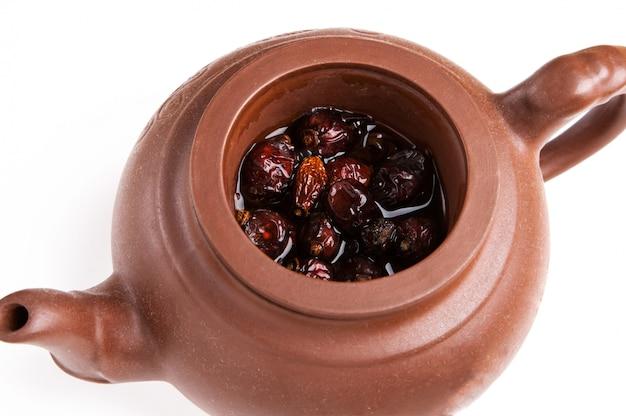 Brasse de réséance à sec en pot de thé en poterie