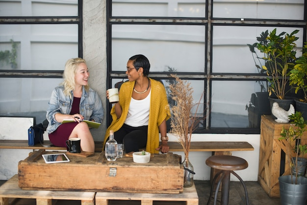 Break casual coffee shop collaborateur concept gai