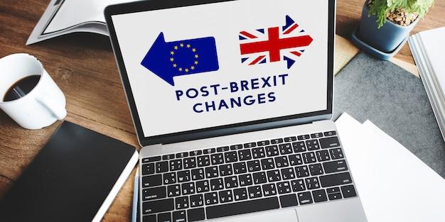 Brexit grande-bretagne quitter l'union européenne quitter le concept de référendum