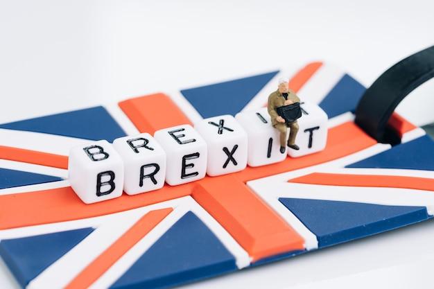 Brexit, royaume-uni quittant le concept de l'union européenne de l'ue