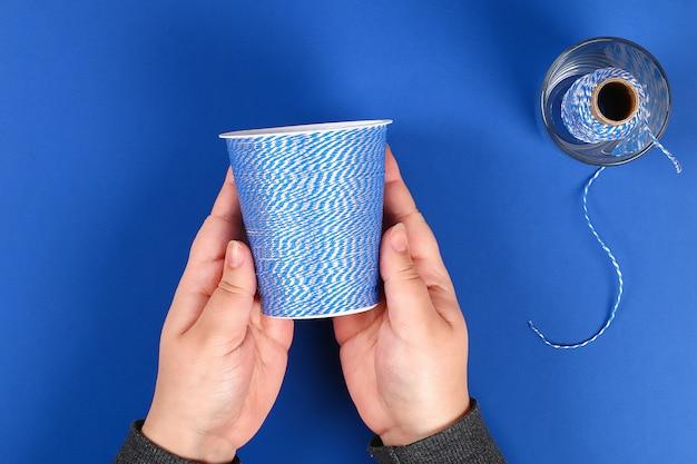 Bricolage porte crayons verre plastique