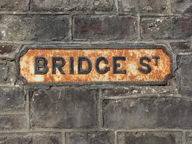 Bridge street signe à chepstow
