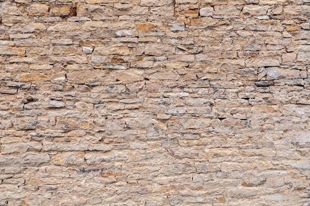 Brique pierre antique brun mur