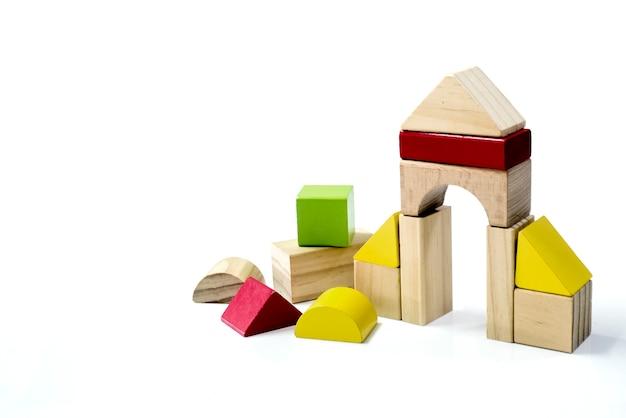 Briques de construction en bois jouets pour enfants cubes en bois