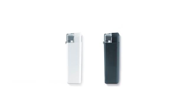 Briquets à gaz noir et blanc vierges