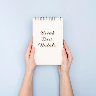 Briser le concept de mauvaises habitudes