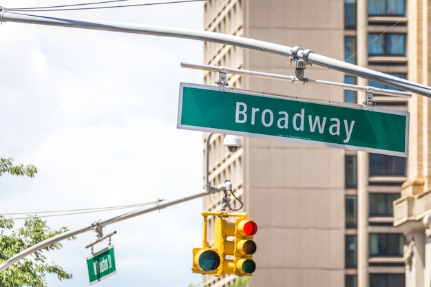 Broadway, signe rue, dans, new york, ville, usa
