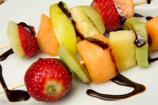 Brochette de fruits