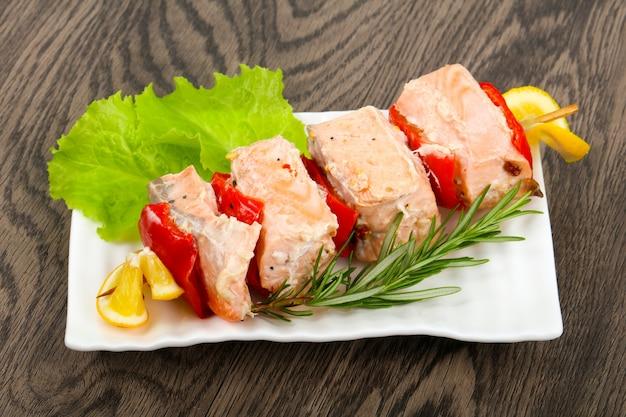 Brochette de saumon