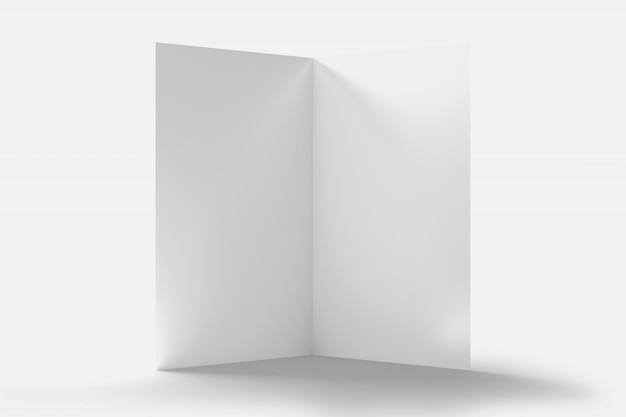 Brochure avec des pages blanches