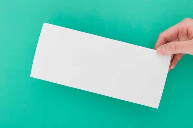 Brochure vue de dessus en forme de rectangle