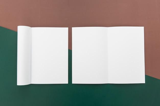 Brochures de formes différentes