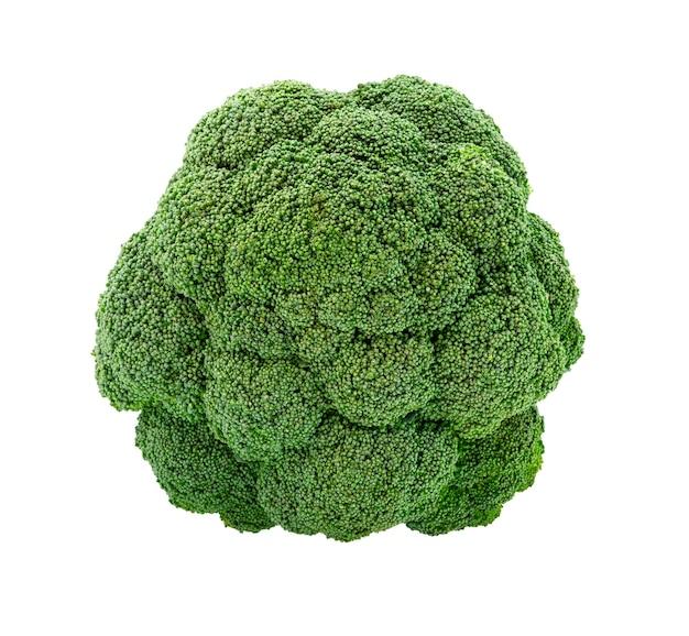 Brocoli frais isolé sur fond blanc. vue de dessus de brocoli.