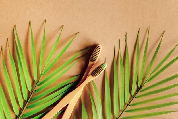 Brosse à dents en bambou naturel.