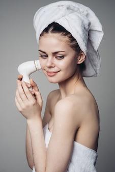 Brosse de massage visage nettoyant femme