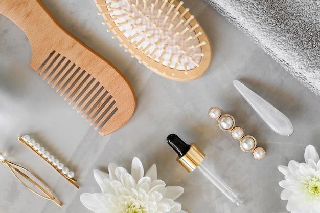 Brosse et sérum pour les cheveux