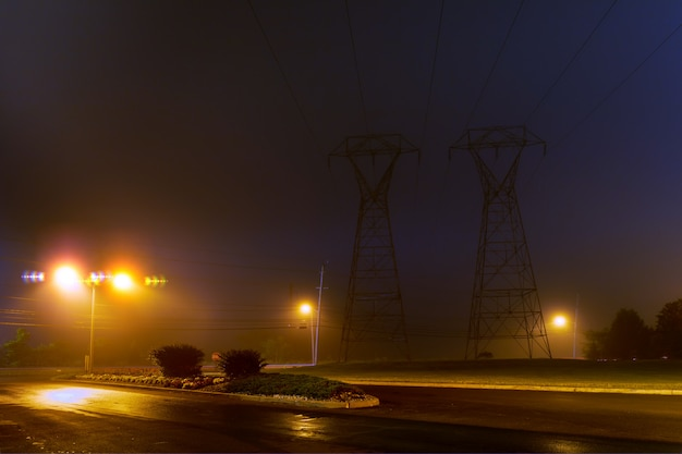 Brouillard dans la nuit