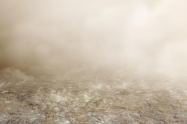 Brouillard épais avec fond blanc