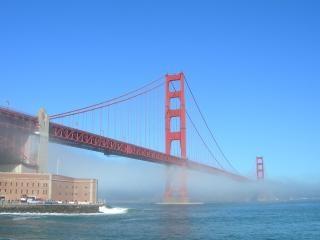 Brouillard golden gate horizontale