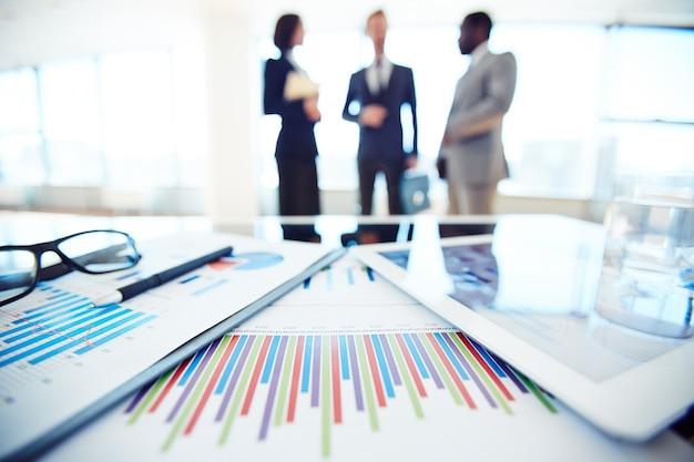 Brouillé cadres dans un environnement de travail