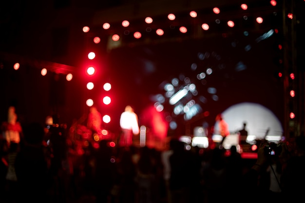Brouiller l'image de la lumière sur un concert de musique