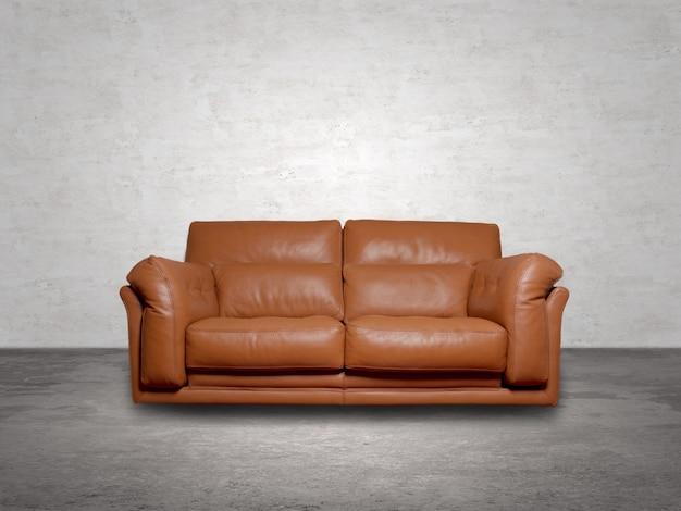 Brown canapé