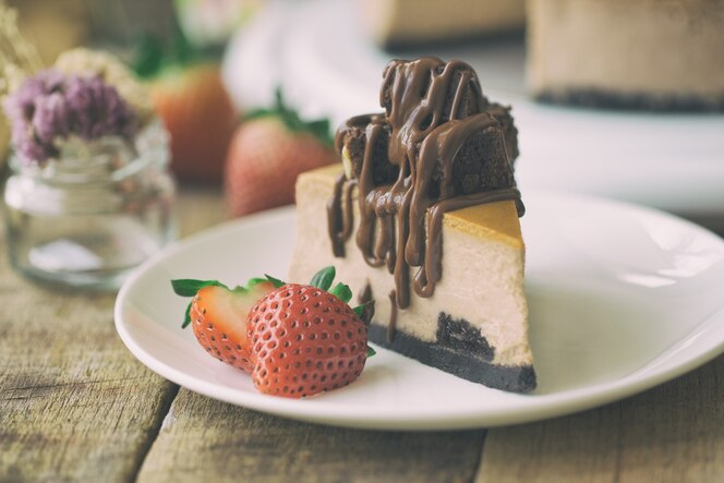 Brownie au chocolat et au chocolat et au chocolat.