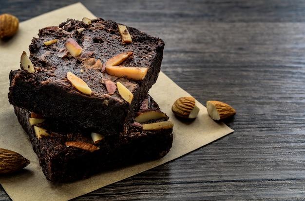 Brownie au chocolat.
