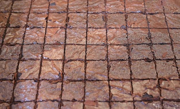 Brownies au chocolat faits maison.
