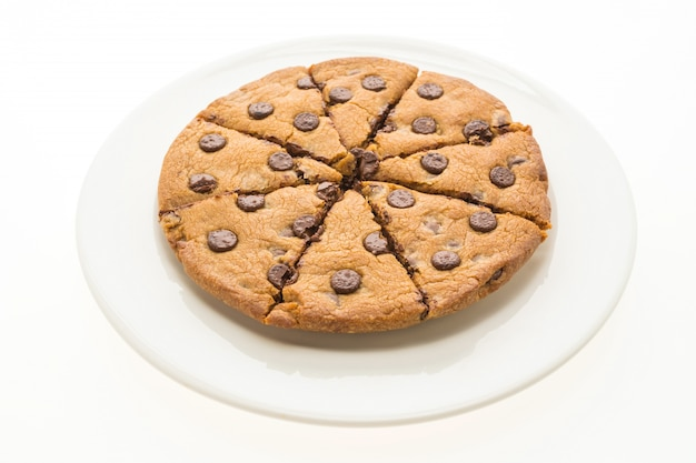 Brownies au chocolat en plaque blanche