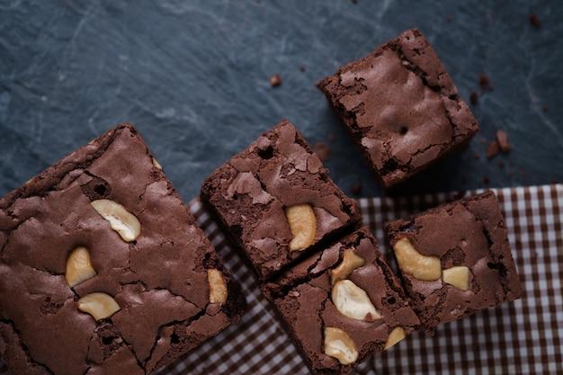 Brownies maison cacahuètes