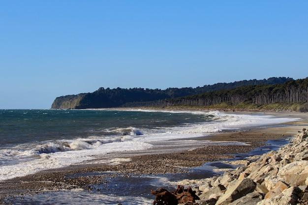 Bruce bay beach côte ouest southland nouvelle-zélande