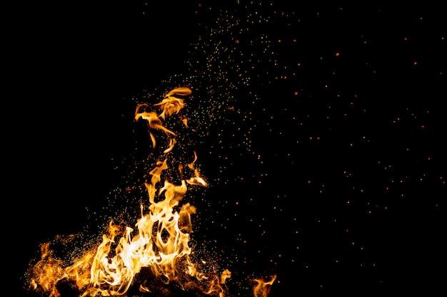 Brûler des bois avec des feux, des flammes.
