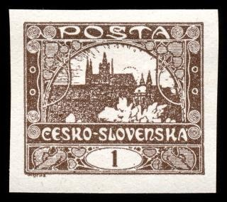 Brun château de hradcany timbre