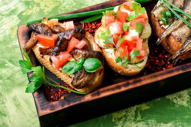 Bruschetta italienne traditionnelle