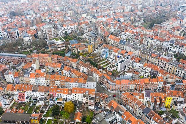 Bruxelles, belgique, 3 janvier 2021 : vieille ville de bruxelles vue d'en haut