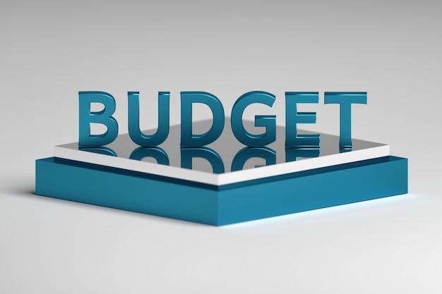 Budget de mot unique sur piédestal de miroir