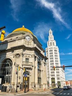 La buffalo savings bank, un bâtiment historique néoclassique des beaux-arts