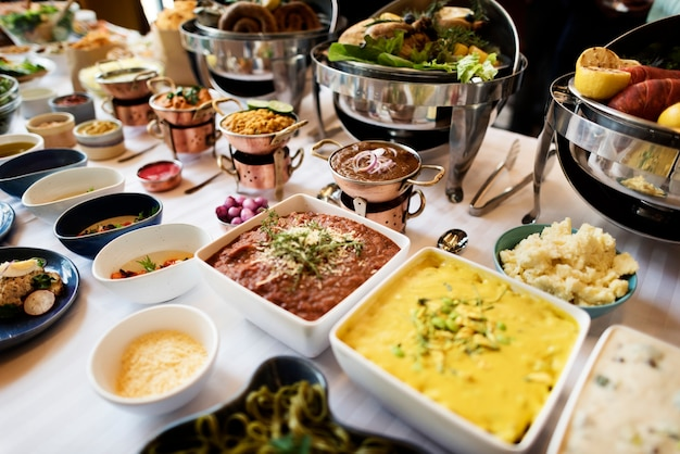 Buffet de restauration restauration concept de partage de repas