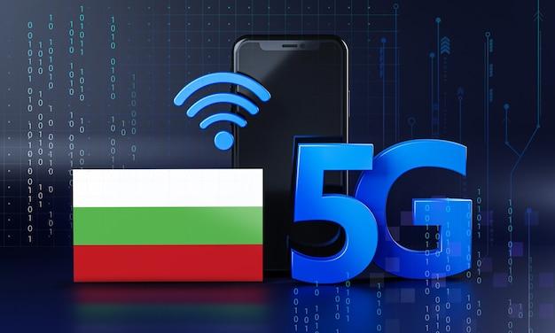 La bulgarie est prête pour le concept de connexion 5g. fond de technologie smartphone de rendu 3d