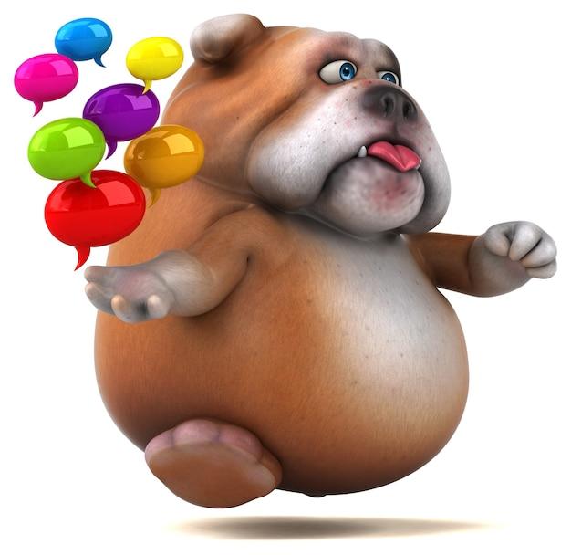 Bulldog amusant - illustration 3d